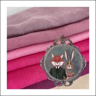 Fox and Rabbit Linens and Fabrics